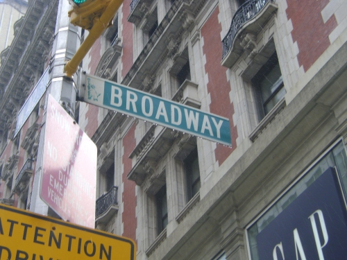 Broadway street sign